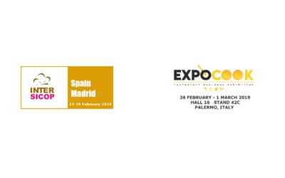 Siamo ad Intersicop 2019 a Madrid ed ExpoCook 2019 a Palermo